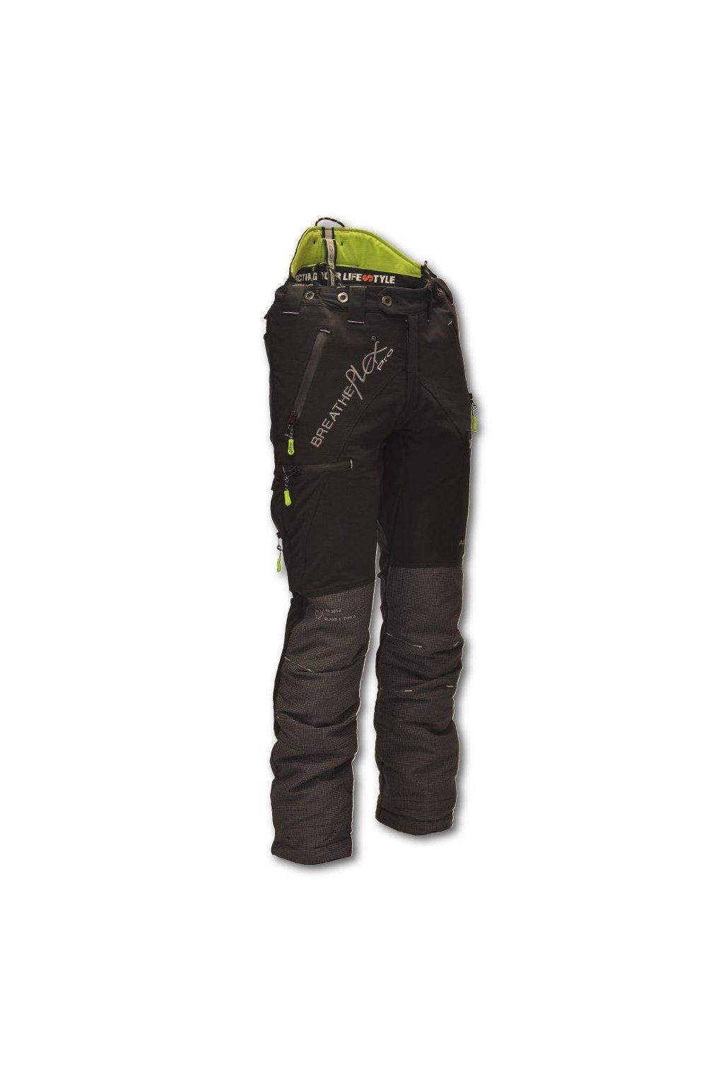 Protipořezové kalhoty Breatheflex Pro černé Class1/TypeA Reg