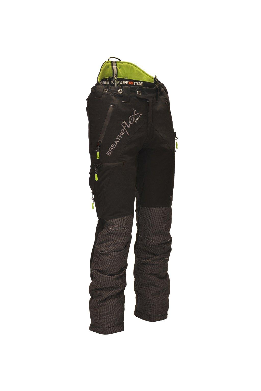 Protipořezové kalhoty Breatheflex Pro černé Class1/TypeC Tall