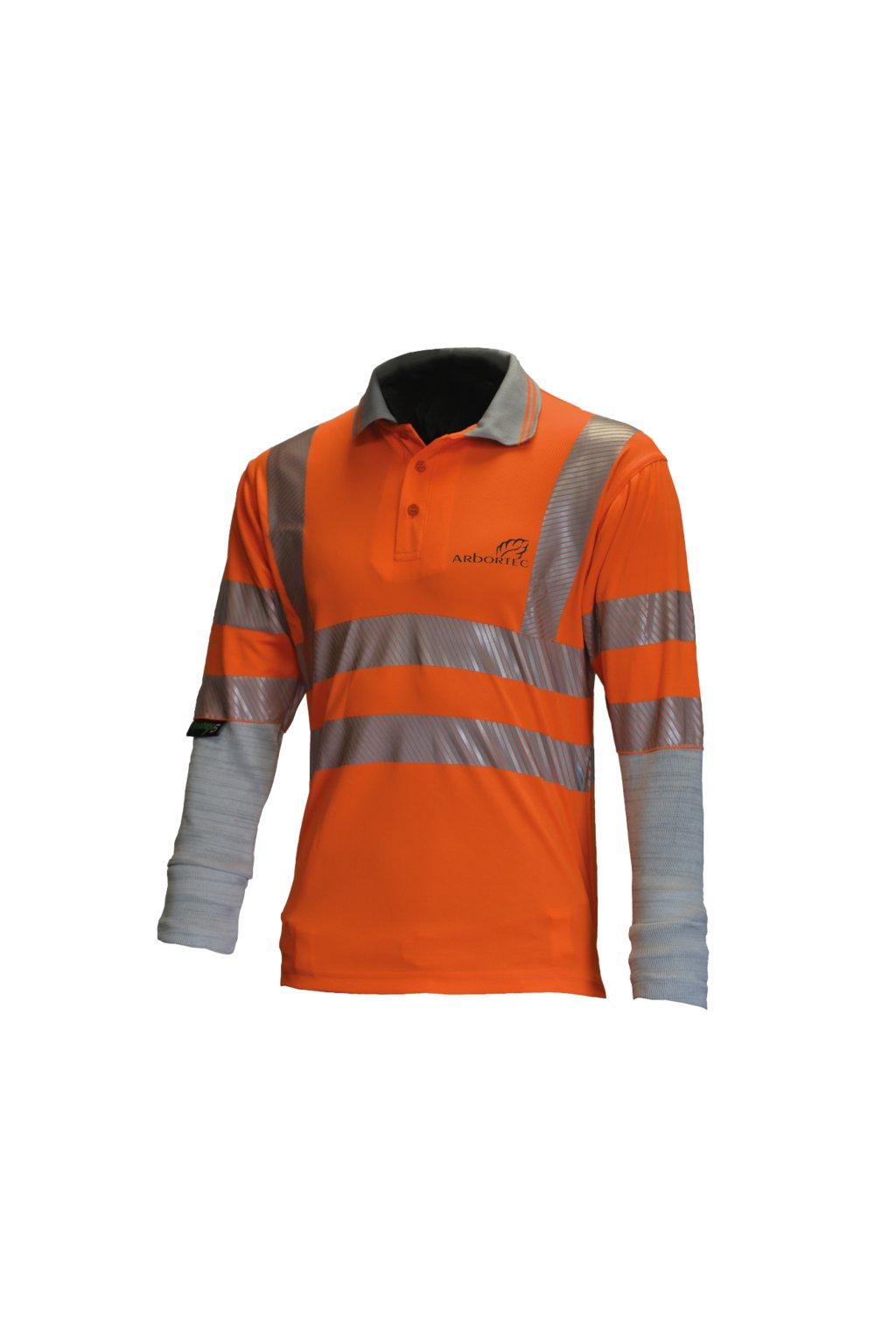 Polotriko s ochranným rukávem oranžové Hi-Viz
