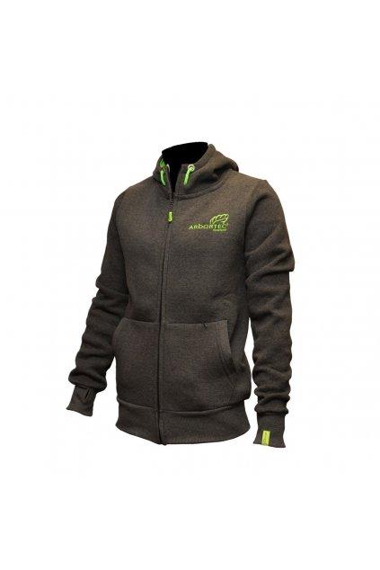 arbortec grey zip hoodie