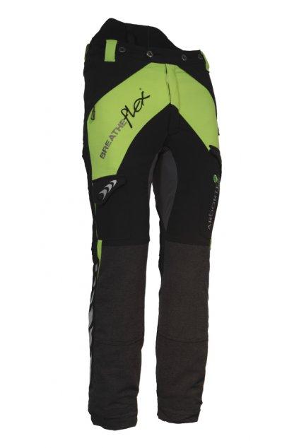 Protipořezové kalhoty Breatheflex zelené Class1/TypeA/prodloužená délka