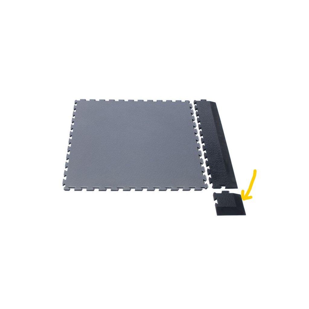 sportovní podlaha roh šedý LI