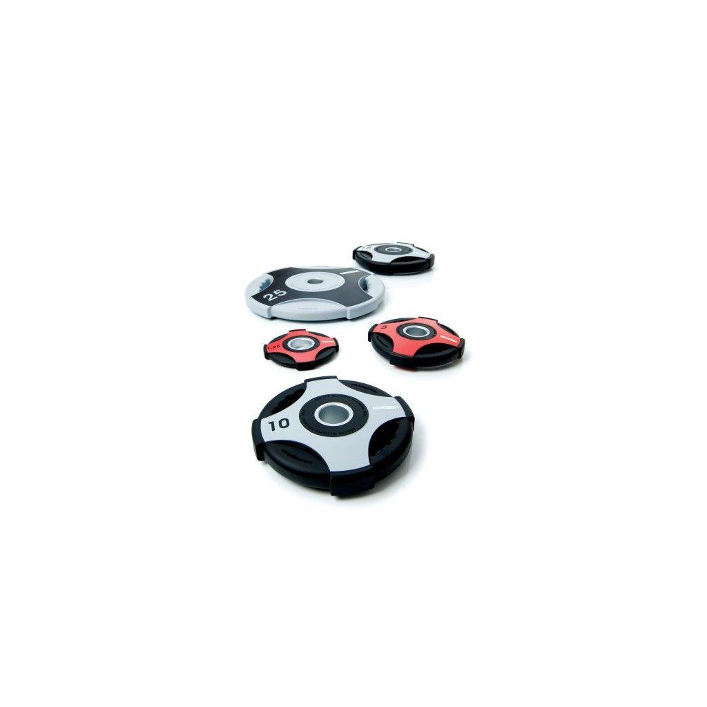 Olympijské gumové kotouče Escape Cross Grip: SET 1,25 – 25 kg (28 disků) 315 kg_01