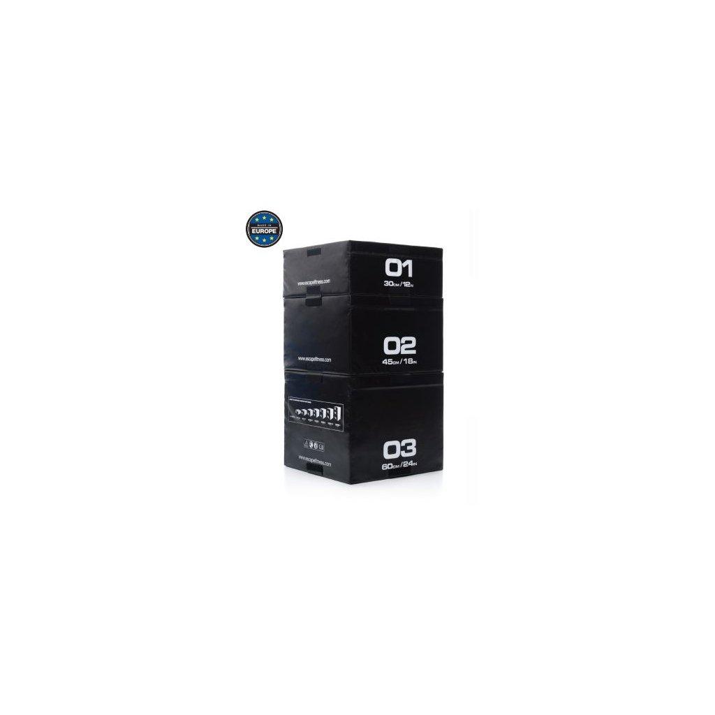 Plymetrické stupínky Escape (Plyo boxy) SET černý_01