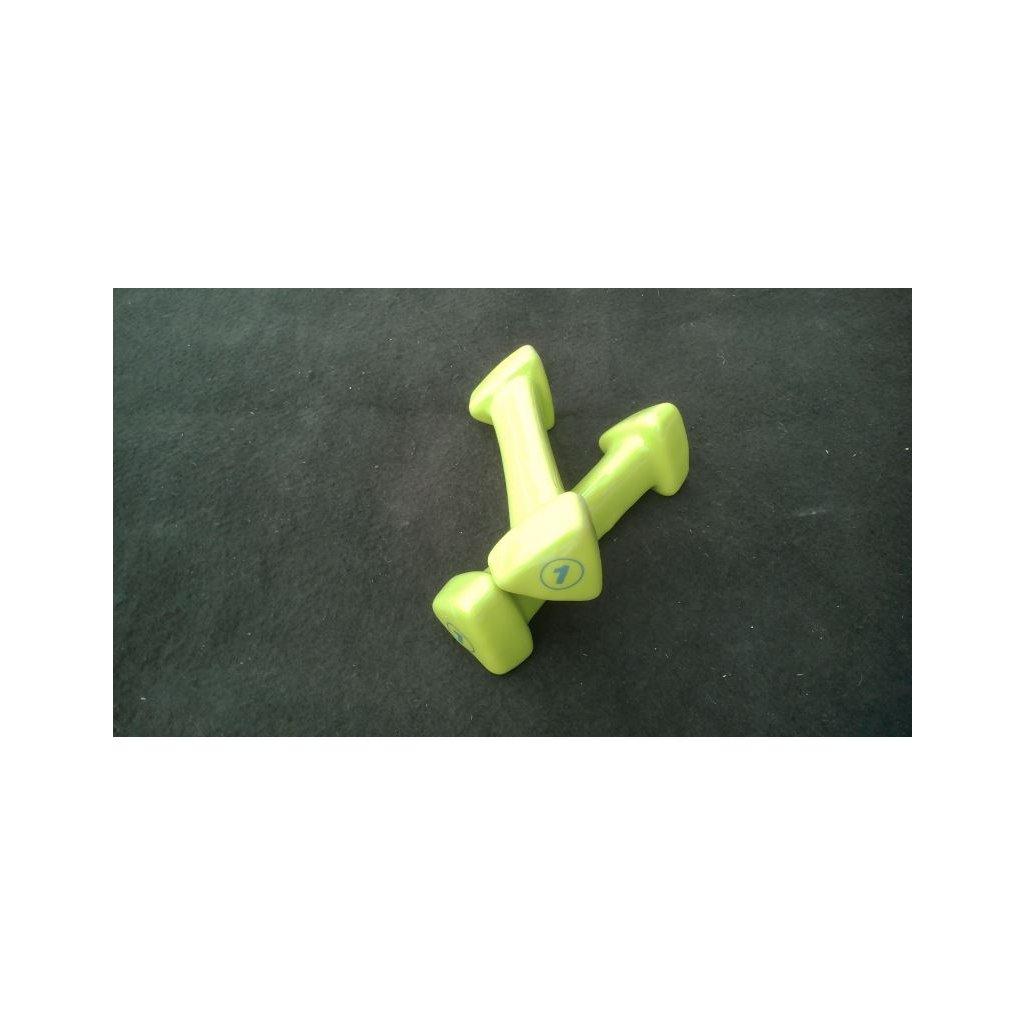 Reebok Jednoruční vinylová činka – Zelená – 1 kg_01