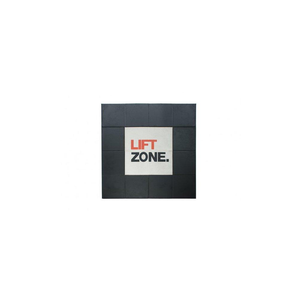 Vzpěračská platforma/zóna pro tlumení nárazů Escape 2 x 2 m (s nápisem)_01