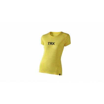 Originál tričko dámské – žluté s černým nápisem, vel.M_01
