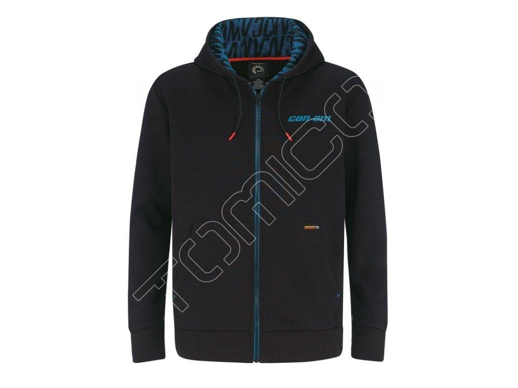 Pánská mikina s kapucí na zip Can-am Zipped Hoodie-černá - TOMICO 46ef7347678