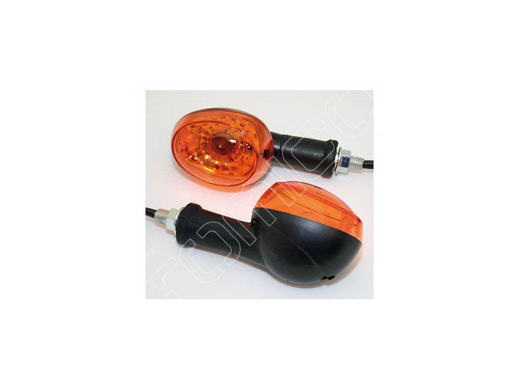 Moto blinkry černé-oranžové