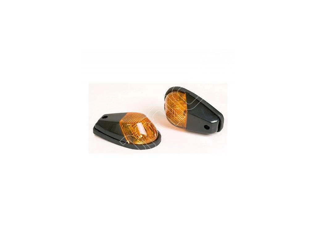 Moto blinkry na blatník černé-oranžové