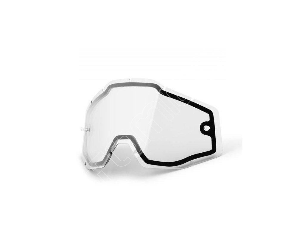 Náhradní dvojité sklo čiré pro brýle 100% Accuri/Racecraft
