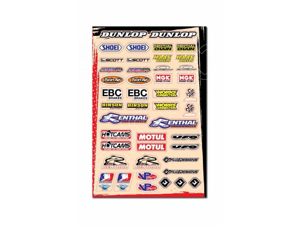 polepy Flu Design stickers kit B