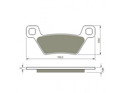 Přední brzdové desky na Kymco MXU 500i/550i/700i