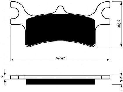 Zadní brzdové desky na Polaris Sportsman 400/500/600/700/800