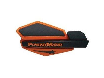 Chrániče páček PowerMadd Star-oranžovo/černé