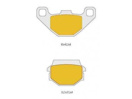 Brzdové destičky na SMC Jumbo 300/R5/720R