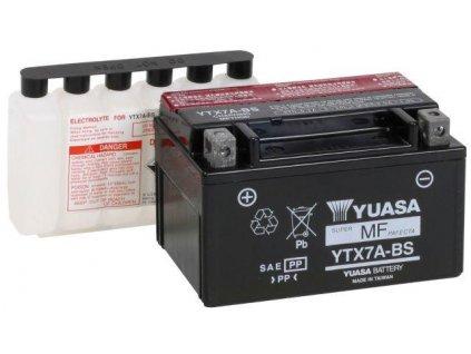 Baterie gelová YUASA YTX7A-BS na Suzuki LTR 450