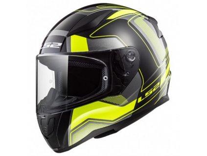 Integrální helma LS2 FF353 RAPID CARRERA Black H-V Yellow