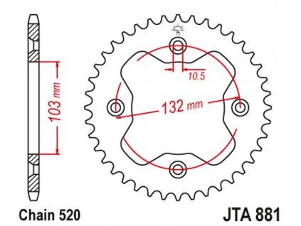 Zadní rozeta na KTM 450XC/450SX/505SX/525XC