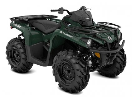 MY21 Can Am Outlander XU 570 Tundra Green 34view INT