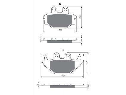 Přední brzdové destičky na TGB Blade 1000