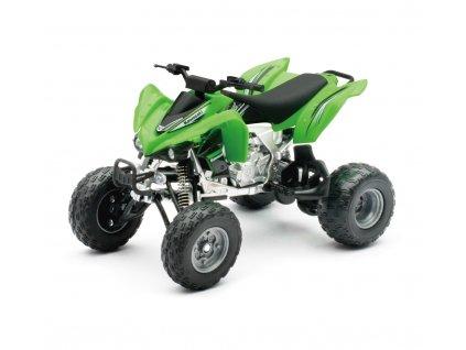 Model čtyřkolky 1:12 Kawasaki KFX 450R-zelené barvy