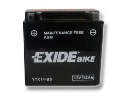 Baterie gelová Exide YTX14-BS Kawasaki KFX 700