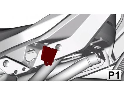 Krytky na držák sedačky spolujezdce na Can-Am Ryker