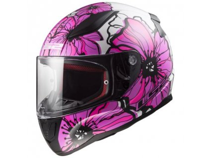 Integrální helma LS2 FF353 RAPID - Poppies White Pink