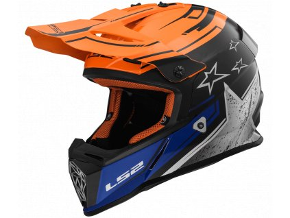 Motokrosová helma LS2 MX437 FAST - Core Black Orange