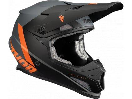 Motokrosová helma LS2 MX437 FAST - Volt Black Yellow Orange