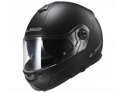 Výklopná helma LS2 FF325 STROBE - SOLID matt black