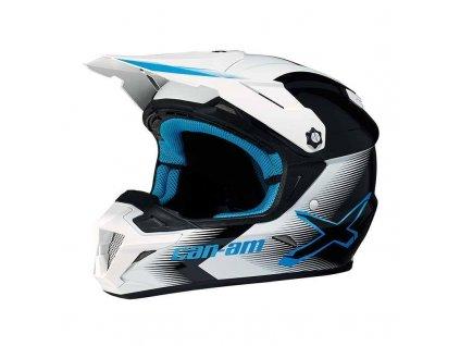 Motokrosová helma na čtyřkolku Can-am XP-3 Pro Cross X-Race-modrá