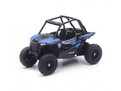 Model Polaris RZR 1000 XP modré barvy 1:20
