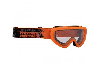 Dětské motokrosové brýle Moose Racing Qualifier-oranžové