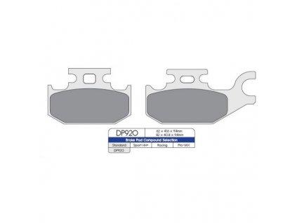 Brzdové destičky na čtyřkolky Can-Am G1-přední levá/zadní