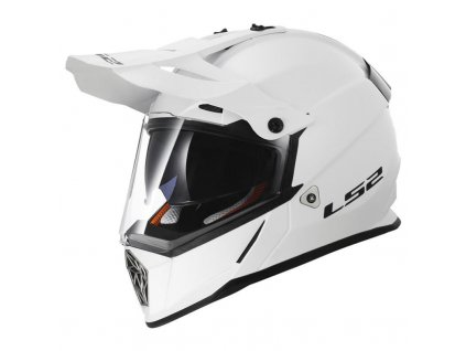Endurová helma LS2 MX436 Pioneer lesklá bílá