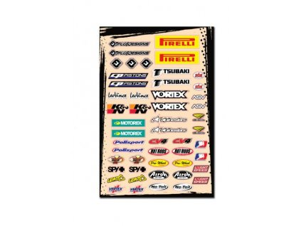 polepy Flu Design stickers kit A