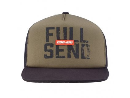 Kšiltovka Can-Am Shopster Flat cap-šedá
