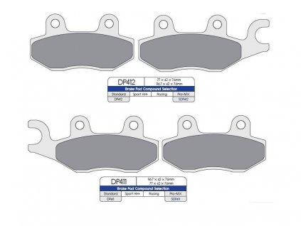 Brzdové destičky na KVF 750/700/650-sada přední
