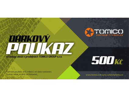 Tomico Darkovy poukaz 500 1