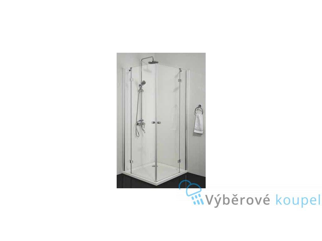 54761 sanotechnik smartflex ctvercovy sprchovy kout sirka 80cm oteviraci dvere cire sklo d1280l d1281r