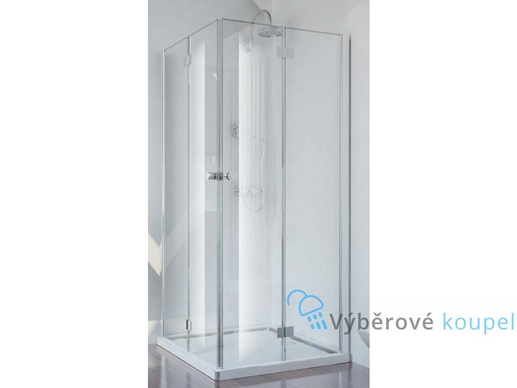 54776 sanotechnik smartflex ctvercovy sprchovy kout sirka 100cm zalamovaci dvere cire sklo d12100fl d12101fr