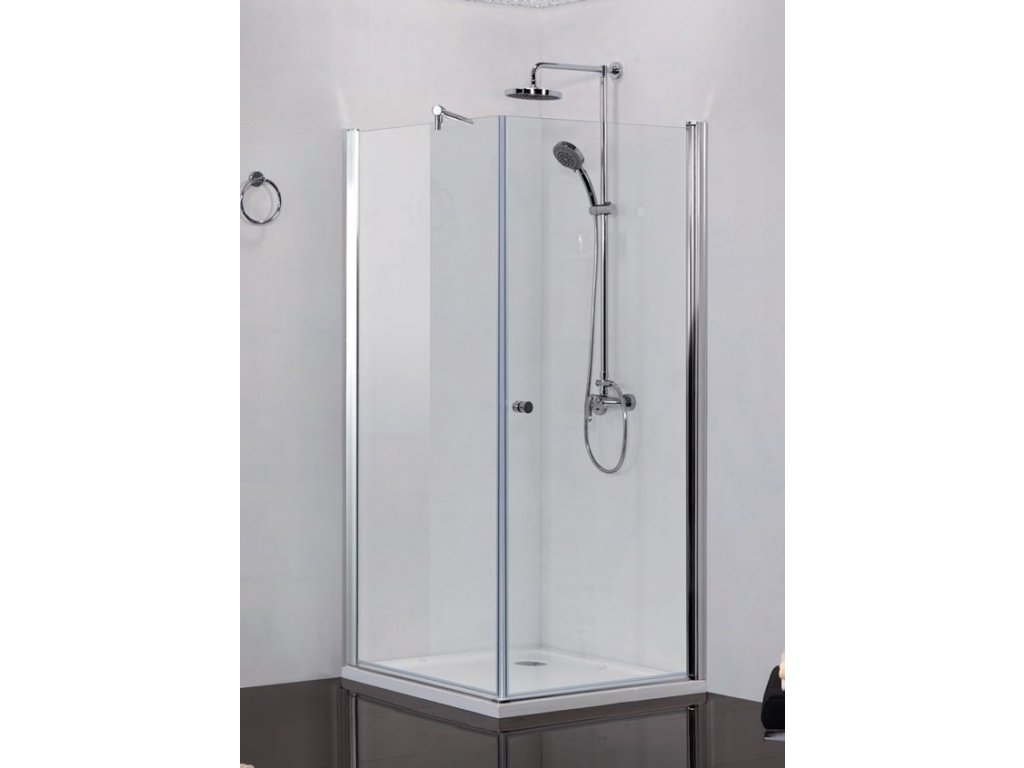 54803 sanotechnik elegance ctvercovy sprchovy kout sirka 80cm oteviraci dvere pevna cast cire sklo n1580