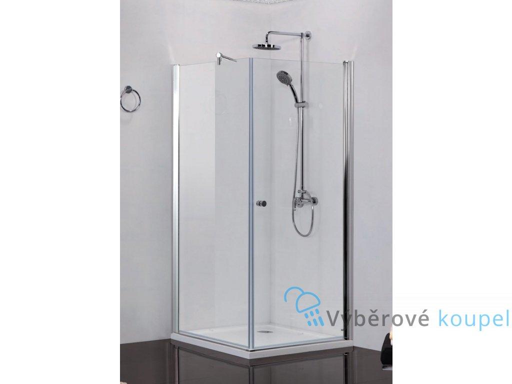 54806 sanotechnik elegance ctvercovy sprchovy kout sirka 90cm oteviraci dvere pevna cast cire sklo n1590