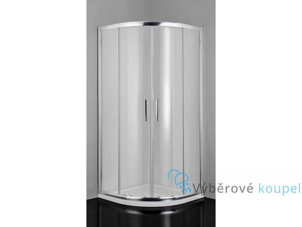 54827 sanotechnik pro line ctvrtkruhovy sprchovy kout sirka 100cm posuvne cire sklo b1010c