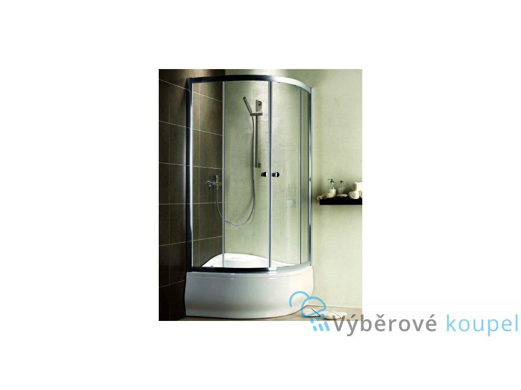 54860 radaway premium plus a1700 ctvrtkruhovy sprchovy kout hluboka vanicka sirka 90cm posuvne dvere cire sklo