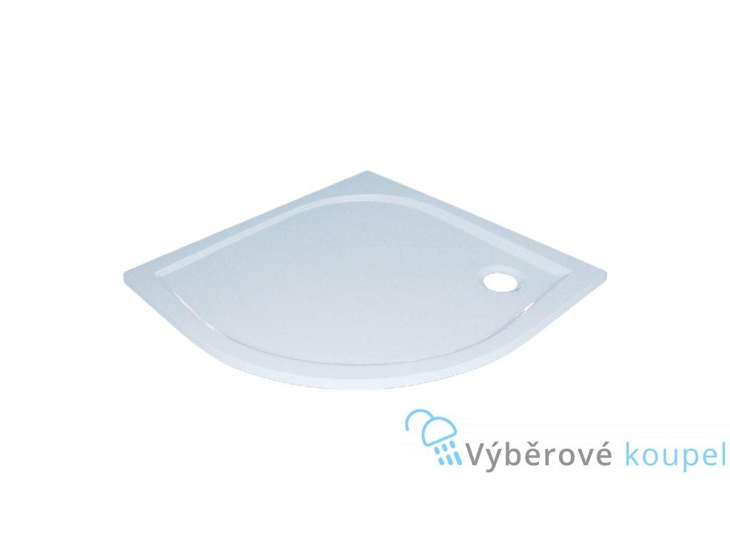 Sanotechnik Dita sprchová vanička, litý mramor, čtvrtkruh, 90cm, 20010 (Čelní panel S čelním panelem)