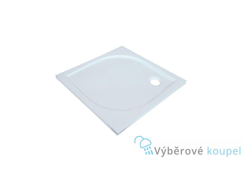 Sanotechnik Aneta sprchová vanička, litý mramor, čtverec, 90cm, 90010 (Čelní panel S čelním panelem)
