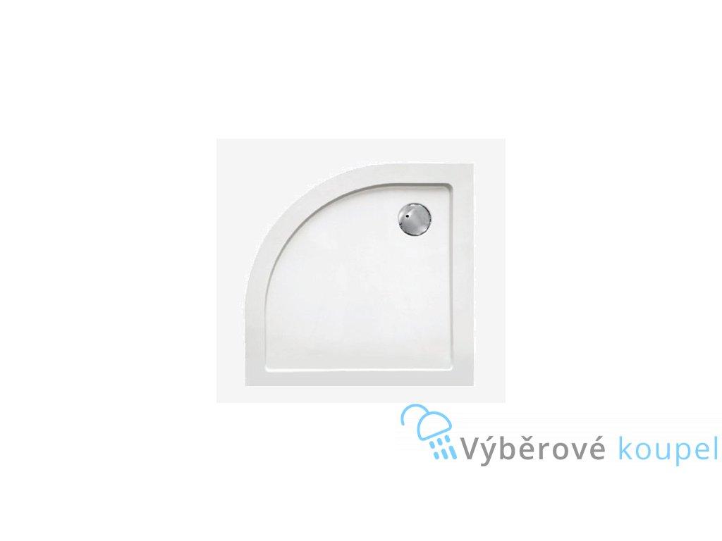 Sanotechnik sprchová vanička, SMC tvrzený polymer, čtvrtkruh, 80cm, SC8080R (Nožičky S nožičkami (8ks))